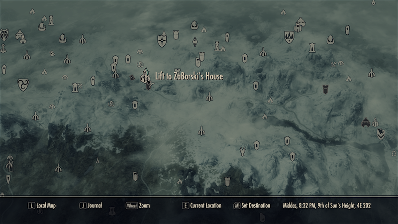 how to unlock all fast travel in skyrim