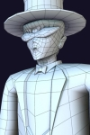 Tuxedo Mask Wireframe - Low Poly Game Character