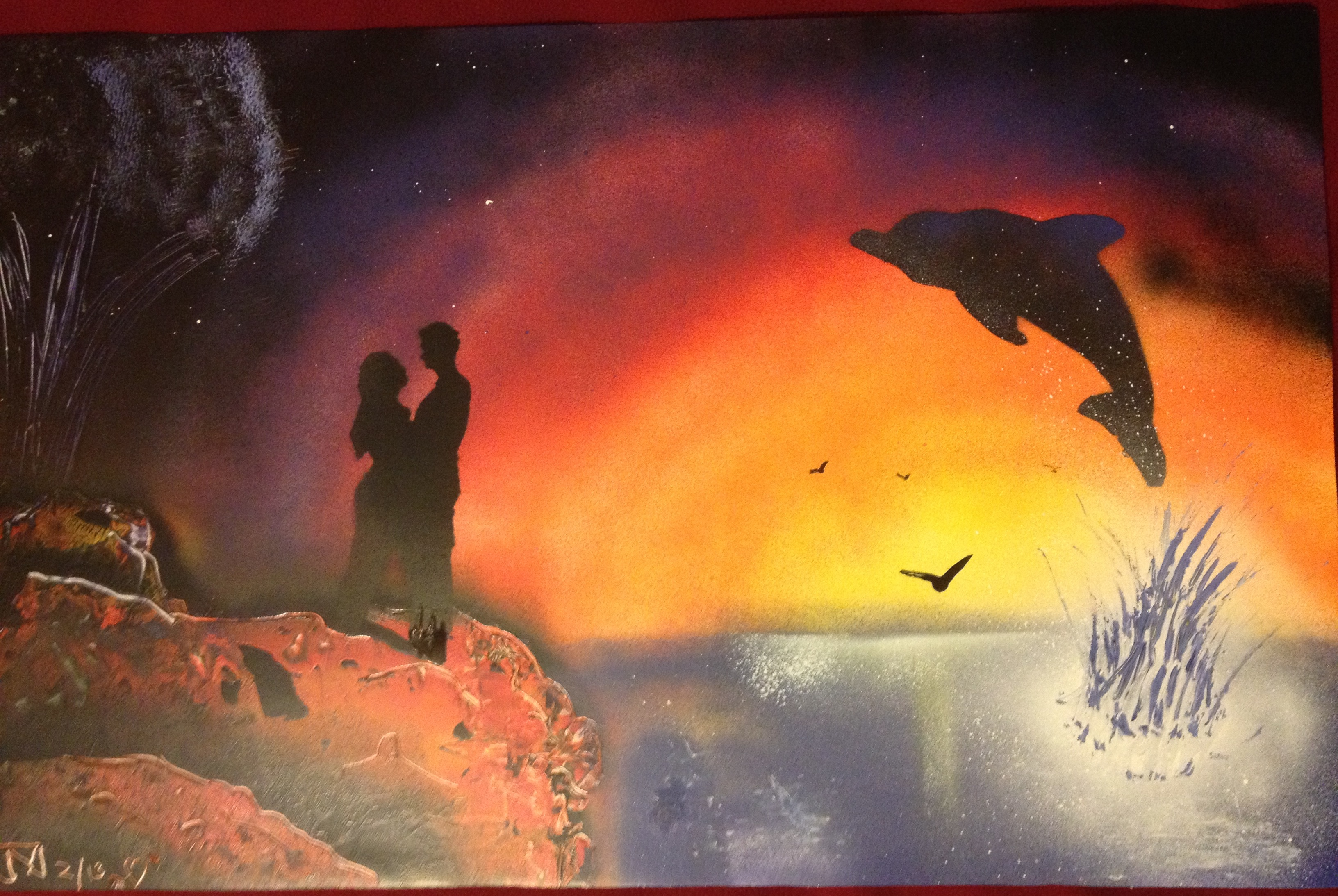Valentines Day Paintings Spray Paint Art