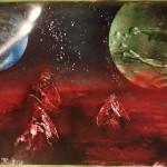 Space Ocean Stalagmites