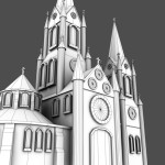 Cathedral Wireframe