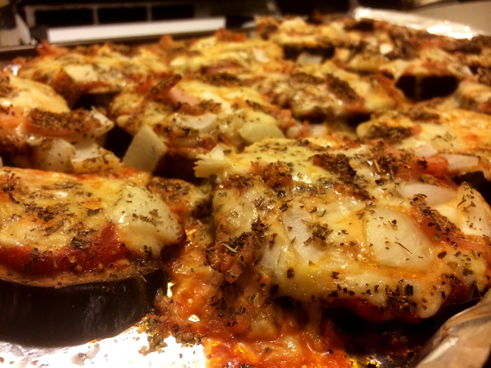 Healthy Eggplant Parmesan Pizza with Vegan Alternative 1