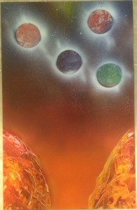 Marble Moons - Spray Paint Art for Sale