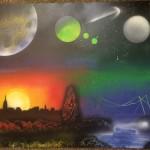 4 Tone City – Spray Paint Art
