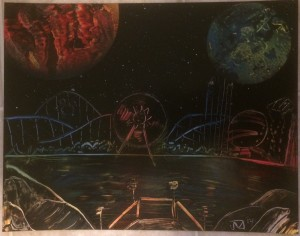 Carnival Theme Park 1 - Spray Paint Art for Sale