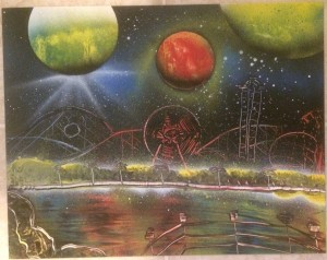Carnival Theme Park 2 - Spray Paint Art for Sale