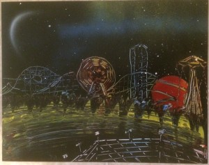 Carnival Theme Park 3 - Spray Paint Art for Sale