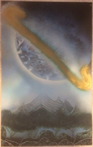 Giant Saturn - Spray Paint Art for Sale