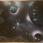 Asteroid Spray Art